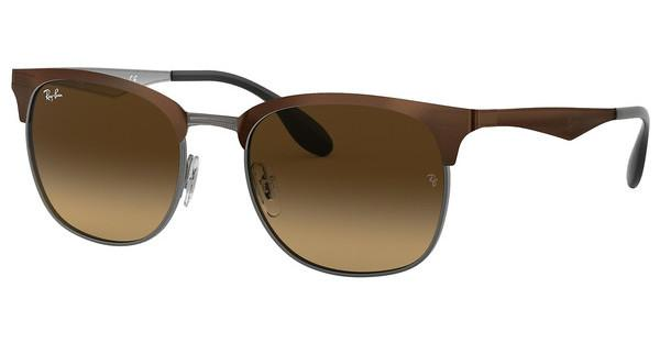 Ray-Ban RB3538 188/13 LIGHT BROWN GRADIENT BROWNTOP BROWN ON GUNMETAL