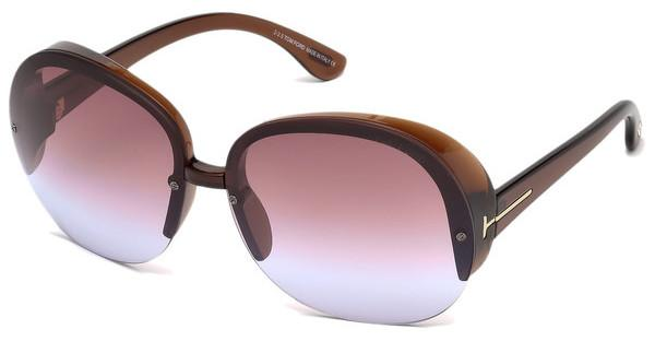 Tom Ford FT0458 48Z verspiegeltbraun dunkel glanz