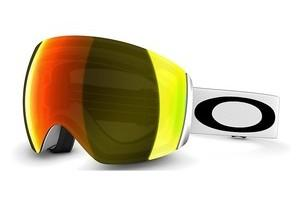 Oakley OO7050 59-713 FIRE IRIDIUMFLIGHT DECK MATTE WHITE W/FIRE