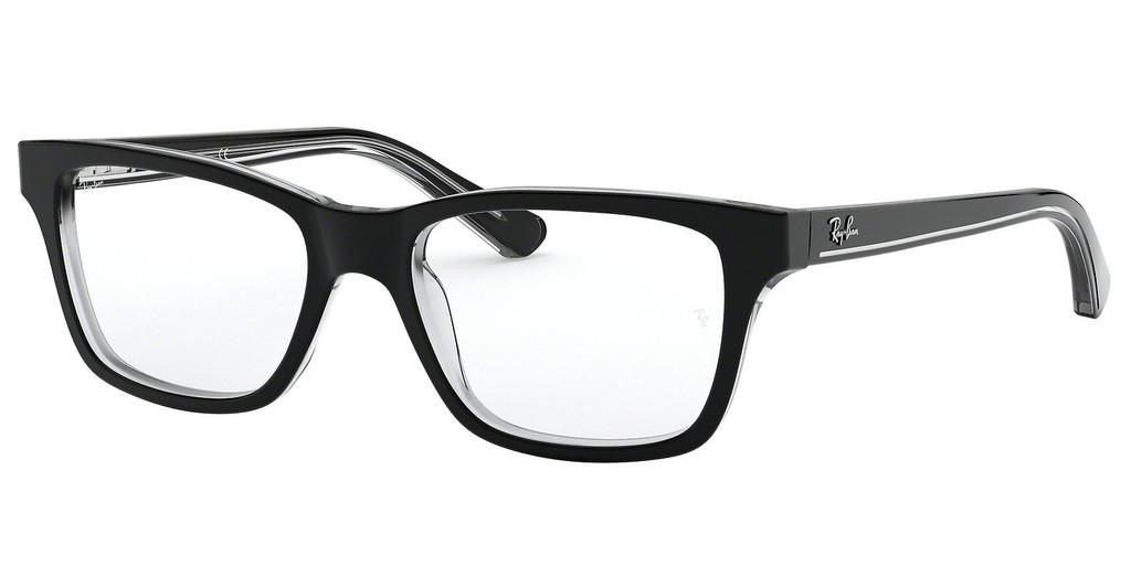 Ray-Ban Junior   RY1536 3529 BLACK ON TRANSPARENT