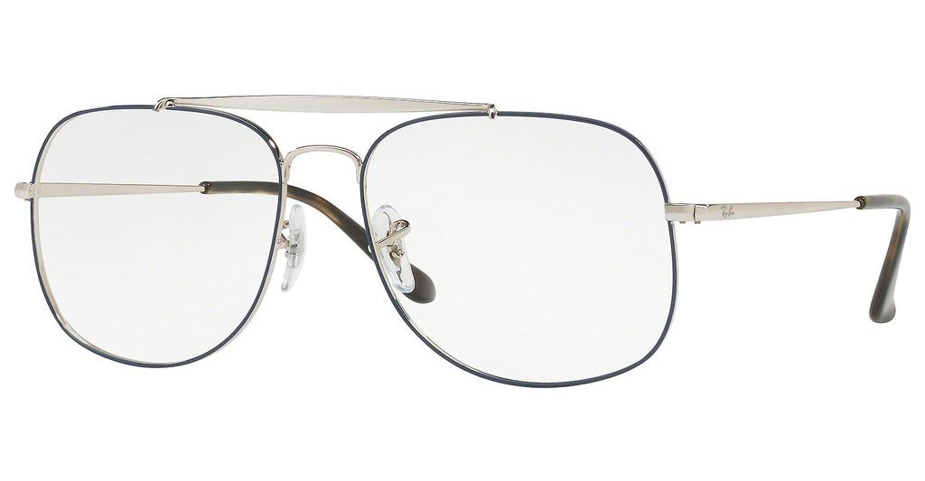 Ray-Ban   RX6389 2970 SILVER ON TOP BLUE
