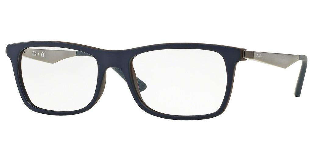 Ray-Ban   RX7062 5575 TOP BLUE ON MATTE BROWN