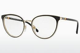 Lunettes design Burberry BE1324 1262 - Noires, Or