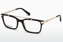 Lunettes design Dsquared DQ5209 052 - Brunes, Dark, Havana