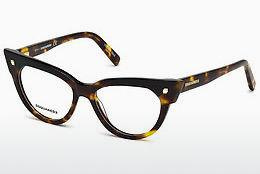 Lunettes design Dsquared DQ5235 052 - Brunes, Dark, Havana