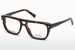 Lunettes design Dsquared DQ5237 052 - Brunes, Dark, Havana