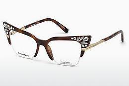 Lunettes design Dsquared DQ5255 053 - Havanna, Yellow, Blond, Brown