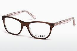 Lunettes design Guess GU2585 047 - Brunes, Bright
