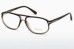 Lunettes design Tom Ford FT5296 050 - Brunes, Dark
