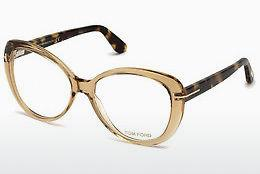 Lunettes design Tom Ford FT5492 045 - Brunes