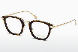 Lunettes design Tom Ford FT5496 052 - Brunes, Dark, Havana