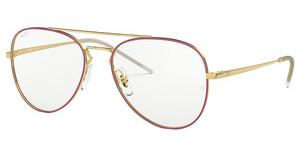 Ray-Ban RX6413 2982 GOLD TOP BORDEAUX