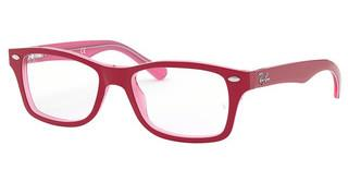 Ray-Ban Junior RY1531 3761 PINK TRASPARENT ON TOP BORDEAU