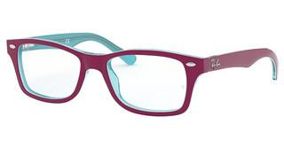 Ray-Ban Junior RY1531 3763 AZURE TRASPARENT TOP ON FUXIA