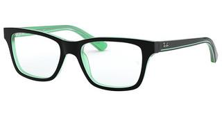 Ray-Ban Junior RY1536 3764 BLACK ON GREEN TRANSPARENT