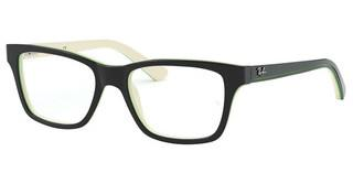 Ray-Ban Junior RY1536 3820 BLACK ON WHITE/GREEN