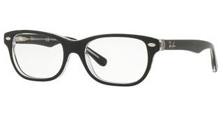 Ray-Ban Junior RY1555 3529 BLACK ON TRANSPARENT