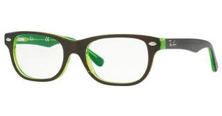 Ray-Ban Junior RY1555 3665 BROWN ON GREEN FLUO