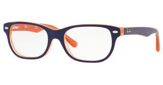 Ray-Ban Junior RY1555 3762 BLUE ON TRANSPARENT ORANGE
