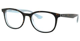 Ray-Ban RX5356 5883 TOP HAVANA ON SHINY LIGHT BLUE