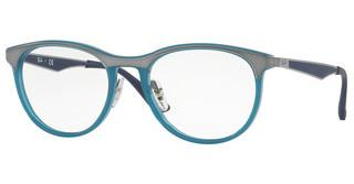 Ray-Ban RX7116 8017 SHINY TRASPARENT BLUE