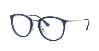 Ray-Ban RX7140 5752 TRASPARENT BLUE