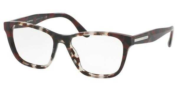 Prada   PR 04TV U6K1O1 SPOTTED OP BROWN/SPOTTED RED