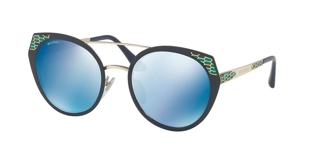 Bvlgari   BV6095 202555 DARK BLUE MIRROR BLUEBLUE DEMI MATTE/PALE GOLD