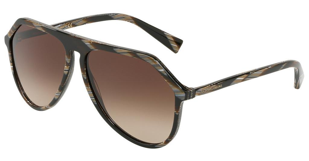 Dolce & Gabbana   DG4341 569/13 BROWN GRADIENTBROWN HORN