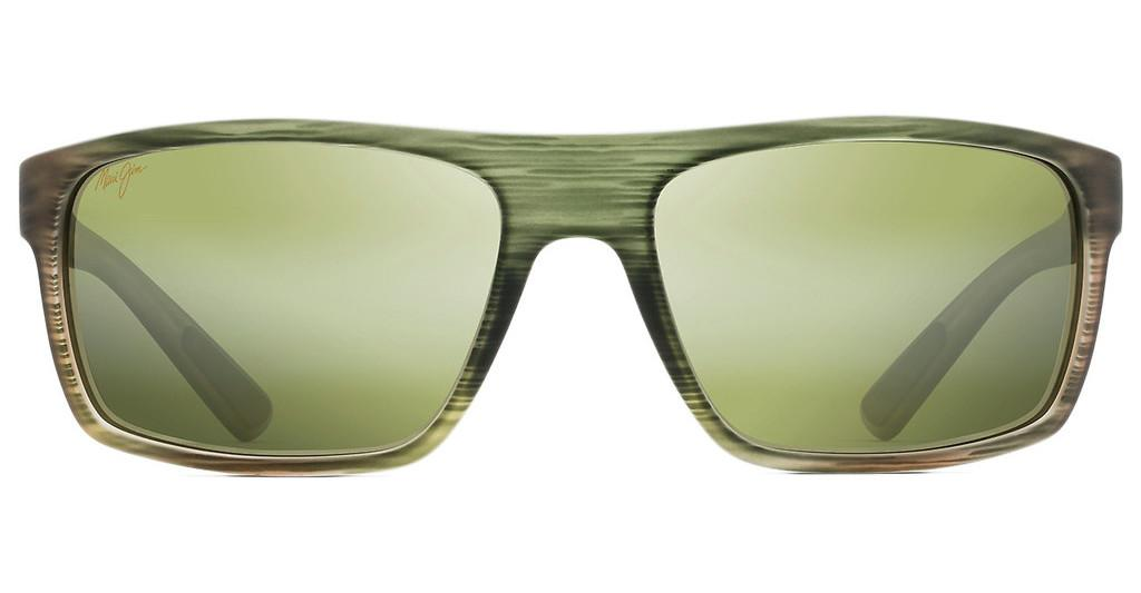 Maui Jim   Byron Bay HT746-15MR Maui HTMatte Green Stripe Rubber