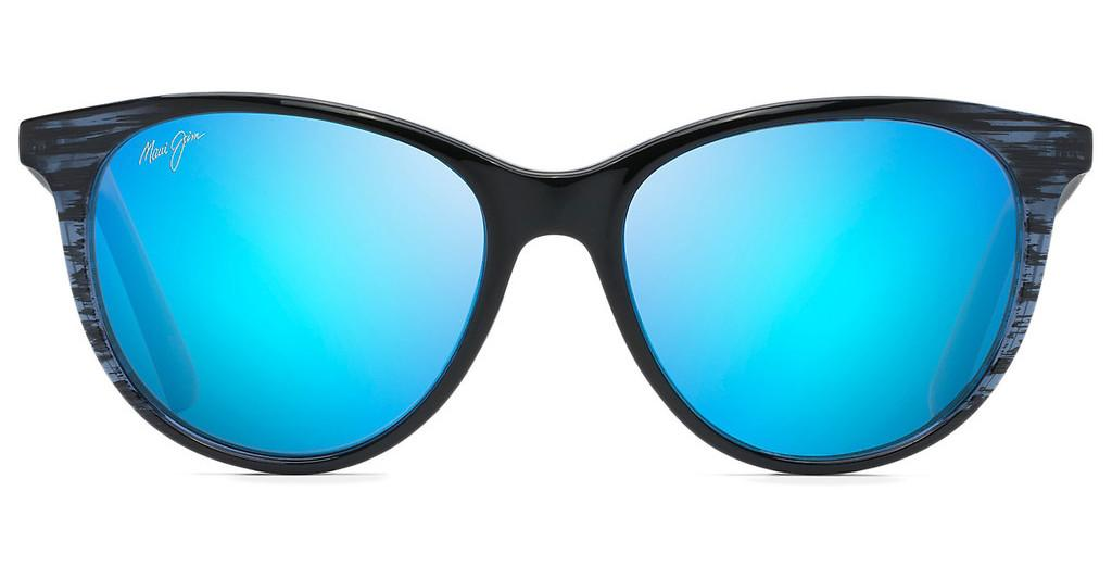 Maui Jim   Cathedrals B782-03S Blue HawaiiBlue Black Stripe