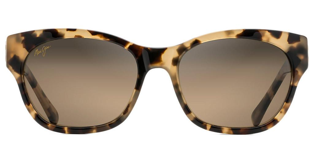 Maui Jim   Monstera Leaf HS747-21B HCL BronzeHoney Havana with Yellow Gold Monstera