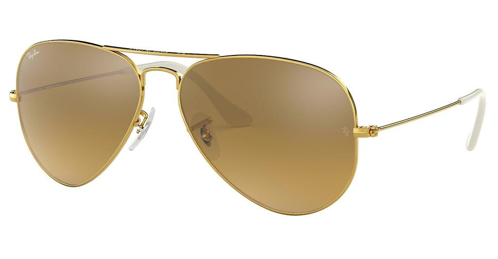 Ray-Ban   RB3025 001/3K CRY. BROWN MIRROR SILVER GRAD.GOLD