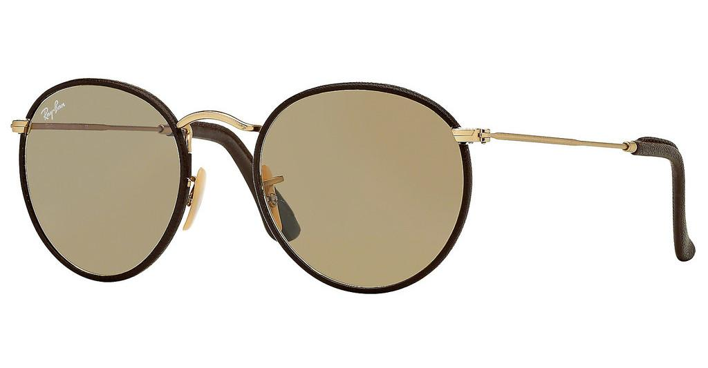 Ray-Ban   RB3475Q 112/53 CRYSTAL BROWNMATTE ARISTA/BROWN LEATHER