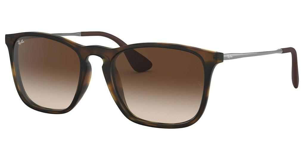 Ray-Ban   RB4187 856/13 BROWN GRADIENT DARK BROWNRUBBER HAVANA