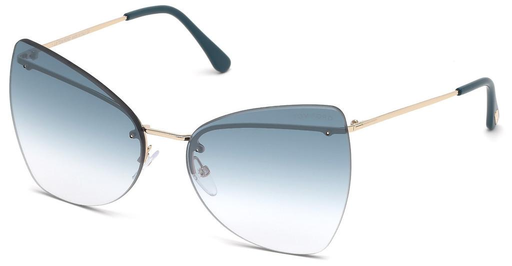 Tom Ford   FT0716 28Q grün verspiegeltrosé