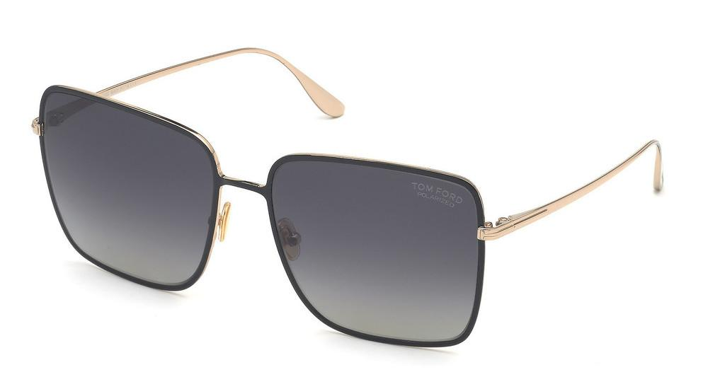 Tom Ford   FT0739 01D grau polarisierendschwarz glanz