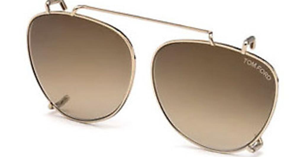 Tom Ford   FT5513-CL 28G braun verspiegeltrosé-gold glanz