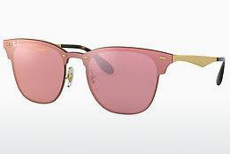 Lunettes de soleil Ray-Ban Blaze Clubmaster (RB3576N 043/E4) - Rose, Or