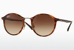 Lunettes de soleil Ray-Ban Round Ii Light Ray (RB4242 620113) - Brunes, Havanna