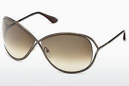 Lunettes de soleil Tom Ford Miranda (FT0130 36F) - Brunes, Dark, Shiny