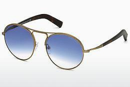 Lunettes de soleil Tom Ford Jessie (FT0449 37W) - Brunes, Dark, Matt
