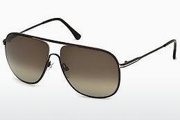 Lunettes de soleil Tom Ford Dominic (FT0451 49K) - Brunes, Dark, Matt