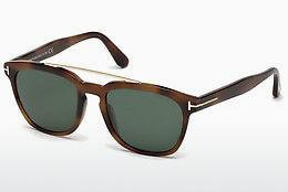 Lunettes de soleil Tom Ford Holt (FT0516 53N) - Havanna, Yellow, Blond, Brown