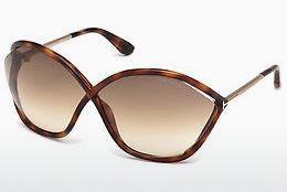 Lunettes de soleil Tom Ford Bella (FT0529 53F) - Havanna, Yellow, Blond, Brown