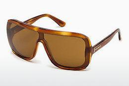 Lunettes de soleil Tom Ford FT0559 53E - Jaunes, Brunes, Havanna