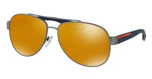 Prada Sport PS 55QS DG15N0 BROWN(ORANGE)/24K IRIDIUMGUNMETAL RUBBER