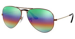 Ray-Ban RB3025 9018C3 LIGHT GREY MIRROR RAINBOW 2METLALLIC MEDIUM BRONZE