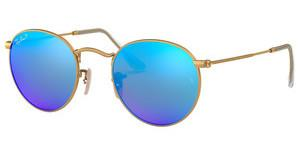 Ray-Ban RB3447 112/4L BLUE MIRROR POLARMATTE GOLD