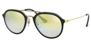 Ray-Ban RB4253 6052Y0 CLEAR GRADIENT GOLDTOP BLACK ON TRANSPARENT